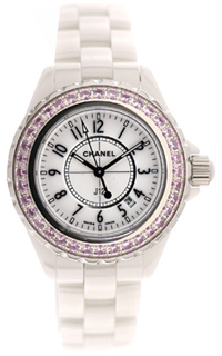 J12 White Ceramic Pink Sapphires H1181