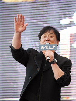 Jackie Chan with Urwek UR-202 AlTiN wrist in the movie CZ12