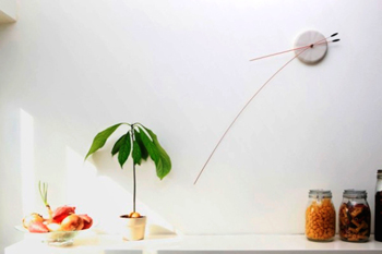 Lithe Clock wall clock with long arrows